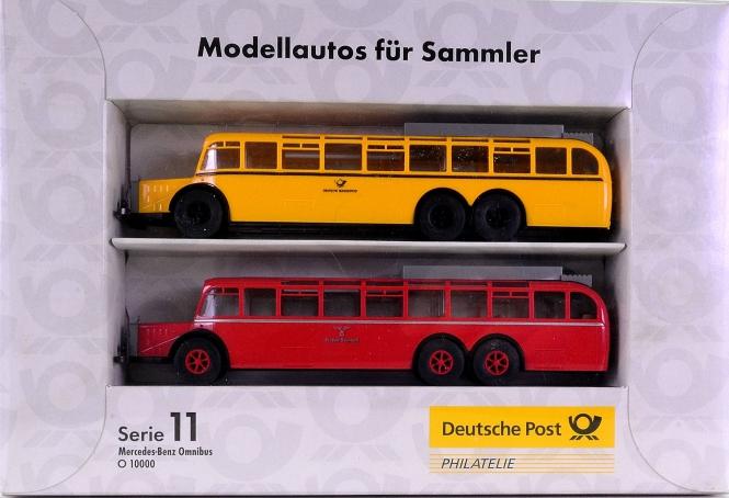 Brekina Serie 11 (1:87) – 2er-Set Mercedes-Benz Omnibus O 10000