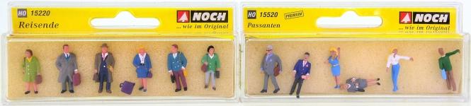 Noch 15220/15520 – 2-teiliges Set Passanten und Reisende, 12 Figuren