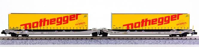 Rocky Rail RR60313 (N) – Doppeltaschenwagen Sdggmrs der AAE Cargo HUPAC SA
