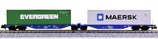 Rocky Rail RR60111 (N) – Container-Doppeltragwagen Sggmrss 90 der ITL