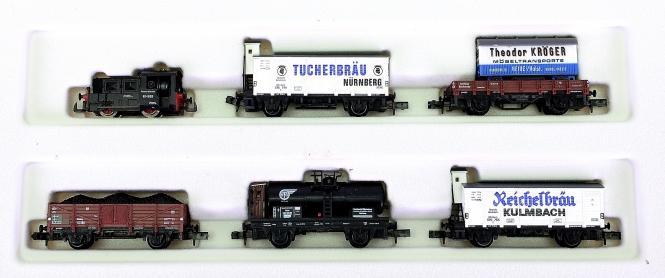 Arnold 0154 – 6-teiliger Güterzug der DRG, mit BR Köf II