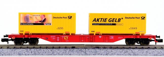 Minitrix 15255 – Containertragwagen Sgss-y 703 der DB AG, Deutsche Post
