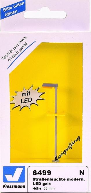 Viessmann 6499 – Straßenleuchte modern, LED gelb