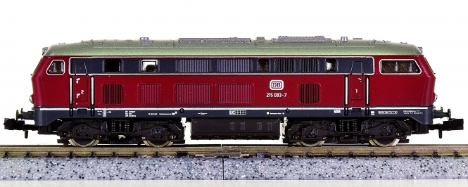 Roco 02150A (N) – Mehrzweck-Diesellok BR 215 der DB
