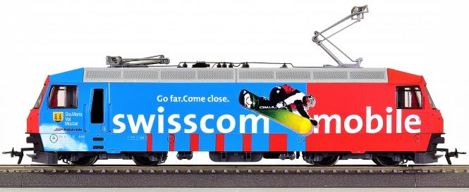 "Bemo 1259 136 (H0m) – Elektrolok BR Ge 4/4 III ""Swisscom mobile"" der RhB"