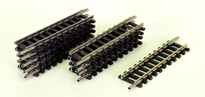 Minitrix 14906 – 10 gerade Gleise, Länge je Gleis 54,2 mm