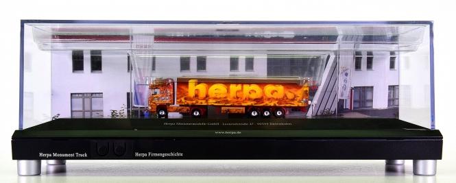 "Herpa 461252 (N) – Scania 164 TL Sattelzug ""Herpa Monument Truck"", Scenix"