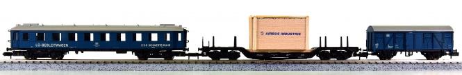 Arnold 0411 – Güterzug mit Lademaßüberschreitung der DB / ESG Schwerte/Ruhr