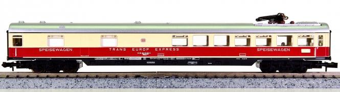 Minitrix 51 3084 00 – Schnellzug-Speisewagen WRümz 135 der DB, mit Pantograf