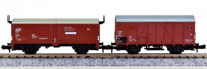 Minitrix – 2-teiliges Güterwagen-Set der DB