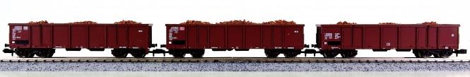 Roco 25564,25565,25566 (N) – 3 off. Güterwagwen der DB / DB AG, mit Beladung