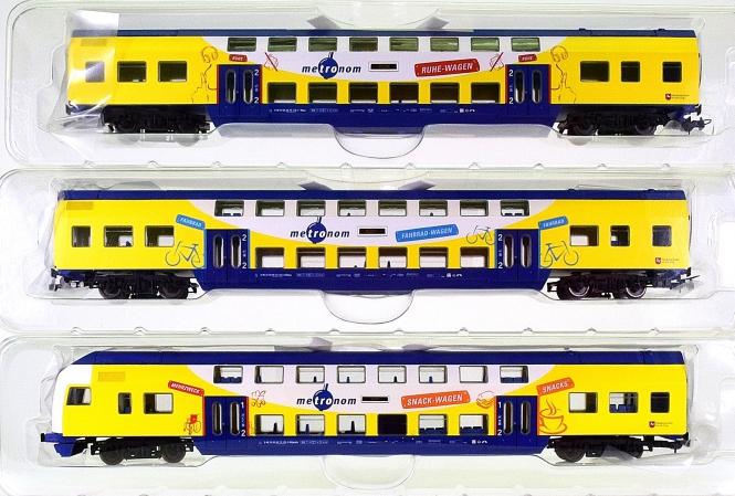 Piko 58350 – Doppelstockwagen-Set der Metronom Eisenbahngesellschaft mbH