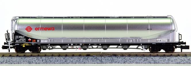 """Liliput L265871 (N) - Silowagen für Staubguttransport """"ERMEWA"""" der DB AG"""