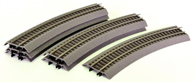 Roco 42510 – Roco-Line, 6 gerade Gleise G1 mit Bettung, Länge je Gleis 230 mm