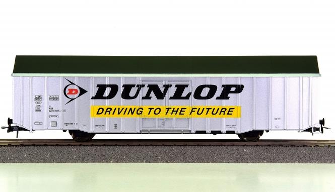 Fleischmann 5376 K - Großraum-Güterwagen DUNLOP der DB AG