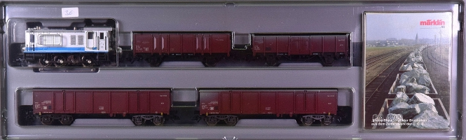 Märklin 2848 – Zement-Zug der C.C.B., mit Rangierlok BR V36, digital (mfx)