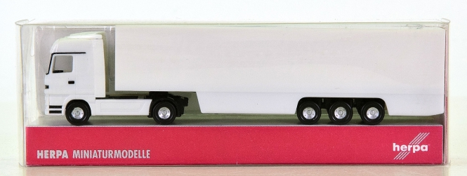 Herpa 065450 (N) – Gigaspace Koffer-Sattelzug MB Actros LH, unbedruckt