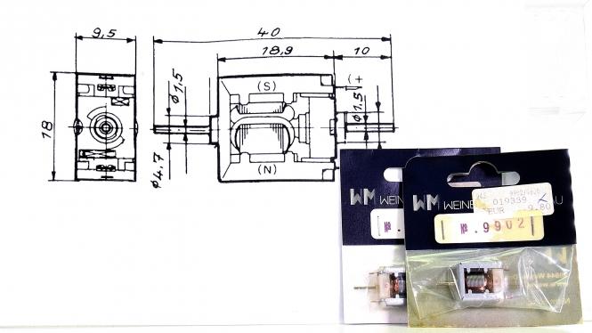 Weinert 9902 – 2 Mabuchi-Motore mit je zwei Wellenenden