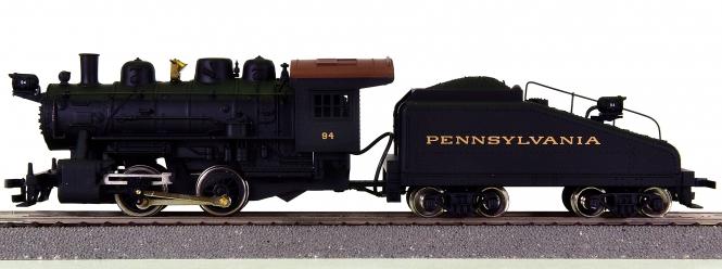 Mantua 375-020 - Dampflok 0-4-0 Shifter mit Slope Back Tender der Pennsylvania