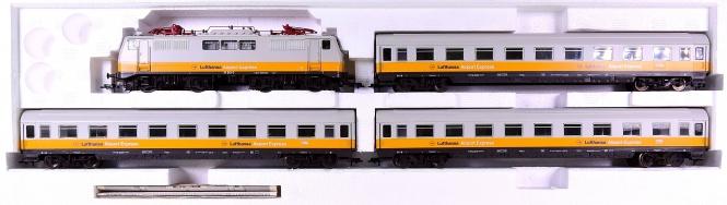 Fleischmann 6350 – 4-teiliger Lufthansa-Airport-Express, mit BR 111