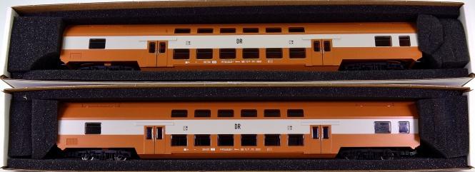 Piko 57135 - 2 Doppelstock-Personenwagen 2.Kl. der DR (DDR)