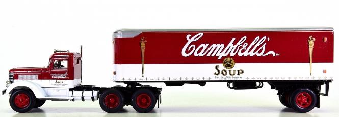 Matchbox DYM38337 1:58 - Campbells Soup Peterbuilt Truck & Trailer