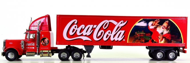 Matchbox KS199/A-M 1:58 - TIS The Season Coca Cola Peterbilt 18 Wheeler