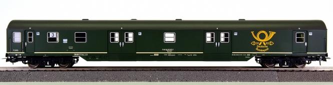 Sachsenmodelle 14638 – Bahnpostwagen Post mrz der DBP, eing. bei der DB