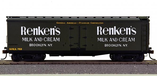 Roundhouse 84634 – 40' Wood Milk Car Renken's Milk