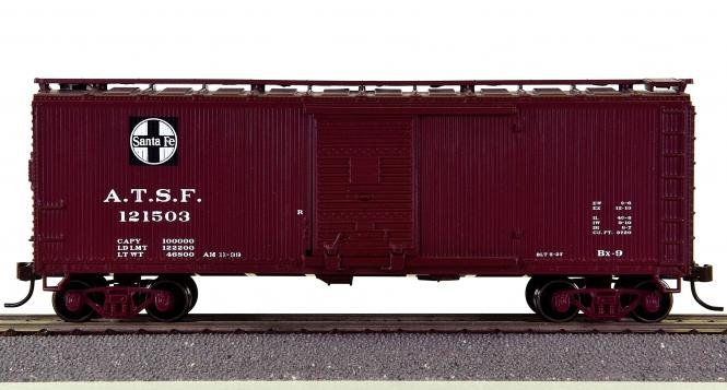 Roundhouse 84661 – 40' Double-Sheathed Boxcar der Santa Fe