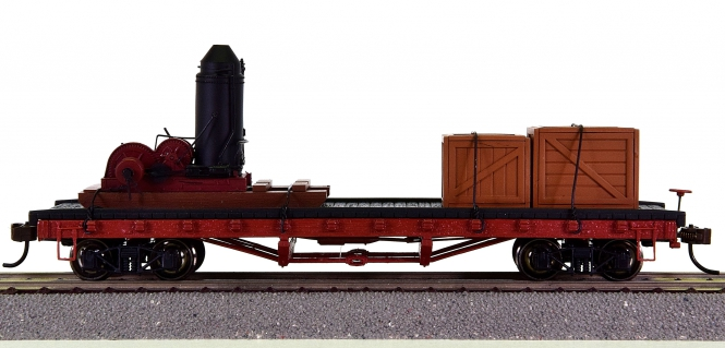 Bachmann 18301 – 40' Log Car with Non-Operating Log