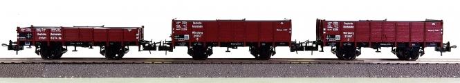 Trix 23510/23512 - 3-tlg. Güterwagen-Set der DRG