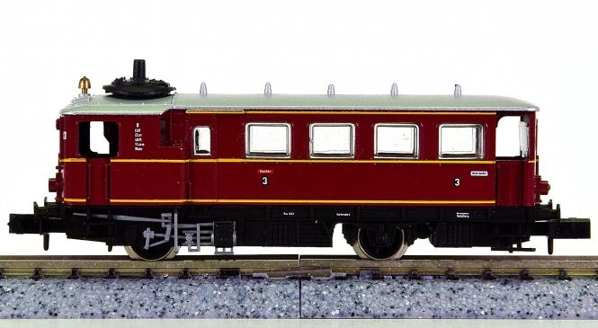 Arnold 2924 – Dampftriebwagen Bauart Kittel der DB, mit Innenbeleuchtung