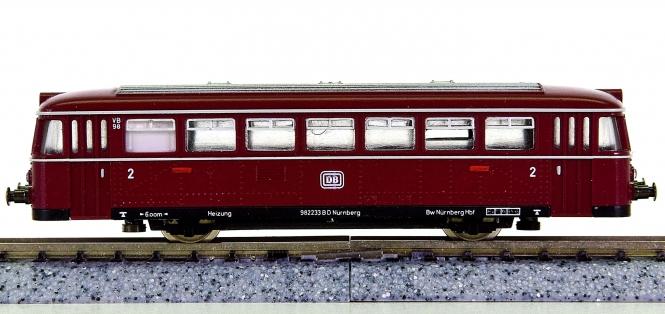 Minitrix 12981 – Beiwagen VB 98 zum Dieseltriebzug VT 98 der DB