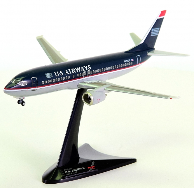 Herpa Wings 550185 (1:200) – Boeing 737-400 US Airways mit Registration