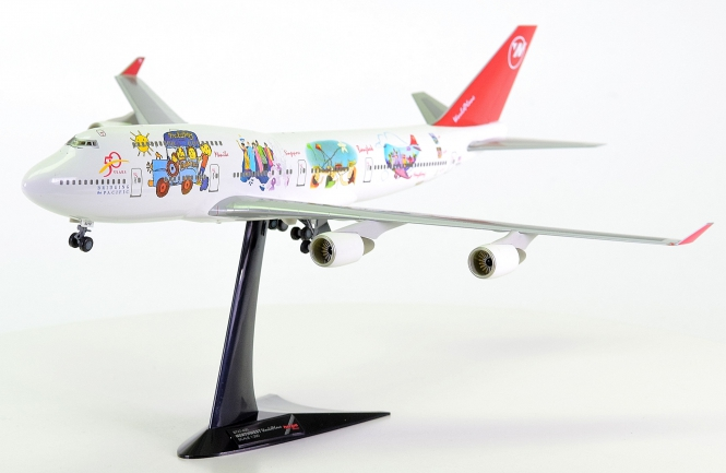 "Herpa Wings 550208 (1:200) – Northwest Boeing 747-400 ""WorldPlane"""