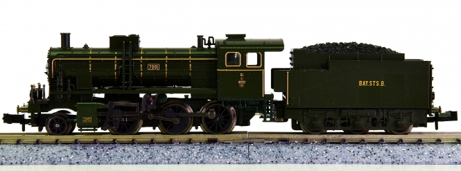 Minitrix 12245 – Schlepptender-Dampflok G 3/4H (BR 54) der K.Bay.Sts.B.