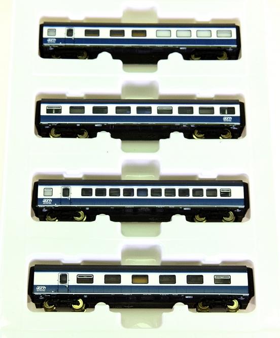 Roco 23103 (N) – 4-tlg. Ergänzungsset zum Blue-Star-Triebzug 23102, Innenbel.