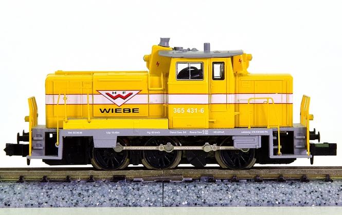 Hobbytrain 249093 (N) – Diesellok BR 365 (V60) der Fa. Wiebe Gleisbau