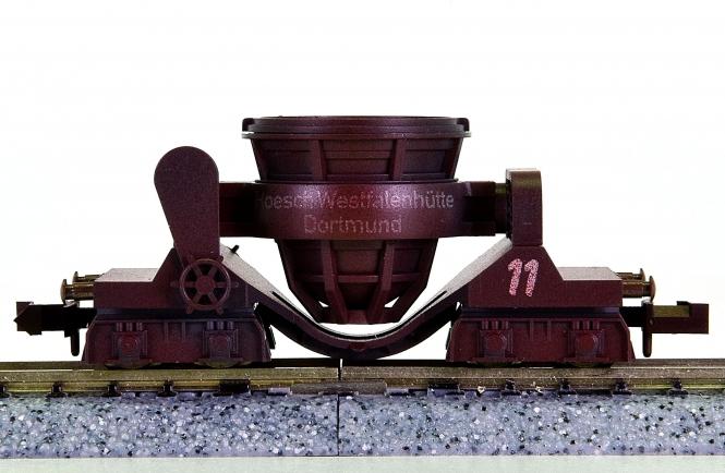 Minitrix 15353 - Schlackepfannenwagen der Hoesch Westfalenhütte Dortmund