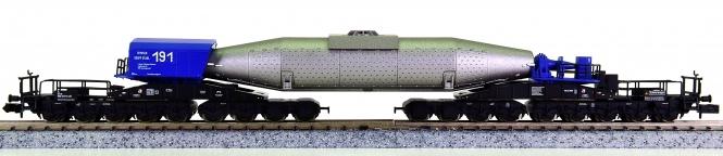 Minitrix 15195 - Torpedopfannenwagen der Thyssen Krupp Stahl