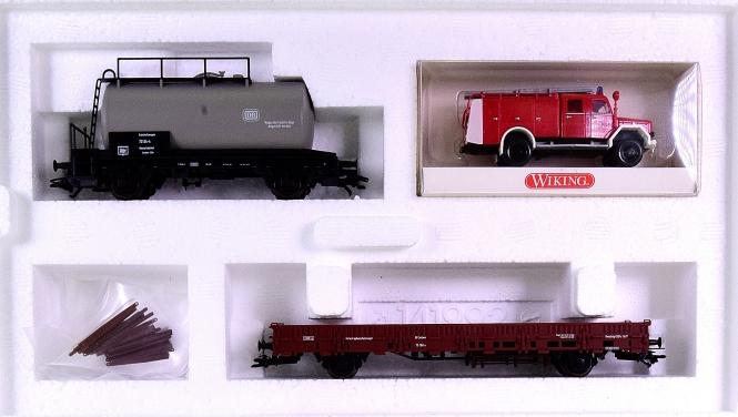 """Märklin 46093 - Güterwagen-Set """"Feuerlöschzug"""" der DB"""