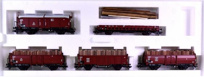 Märklin 46192 - Güterwagen-Set Holzverladung der DB