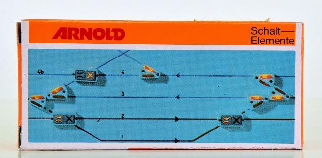 Arnold 7230 - Doppelkreuzungs-Weichenschalter für Gleisbildstellpult