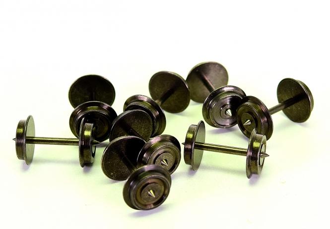 8 Stück 3-Leiter/Wechselstrom Radsatz 11,0 mm x 24,0 mm für Fleischmann