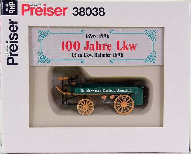 Preiser 38038 - 100 Jahre LKW, 1,5 to LKW Daimler 1896