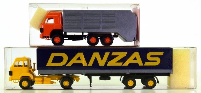 Roskopf – 2-tlg. LKW-Set, Sauer Kehrrichtauto und Sauer Danzans