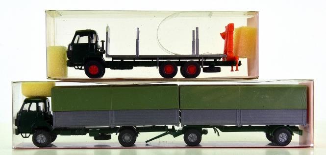 Roskopf – 2-tlg. LKW-Set, Sauer Holztransporter und Sauer Hängerzug