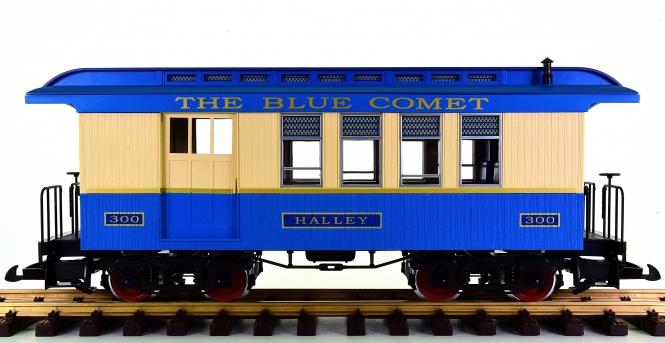 """Piko 38622 (G/IIm) – Halb-Gepäckwagen / Combine Car """"Blue Comet"""" der CNJ"""