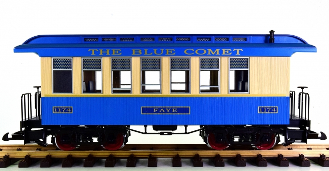 "Piko 38621 (G/IIm) – Personenwagen / Passenger Coach ""Blue Comet"" der CNJ"